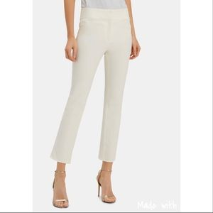 Veronica Beard Off White Cropped Pants